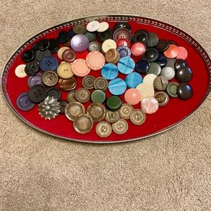 Vintage large chunky buttons